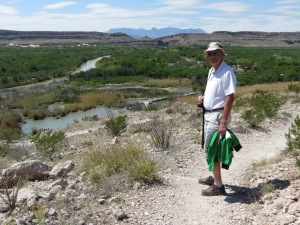 Rich on Rio Grande Nature Trail