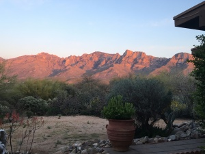Sunset view from our patio Tucson