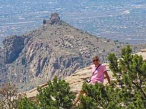 Molly at Windy Point Mt Lemmon 1