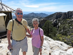 Molly and Rich Mt Lemmon Lookout 2
