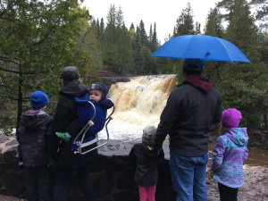 Kennedys at Gooseberry Falls