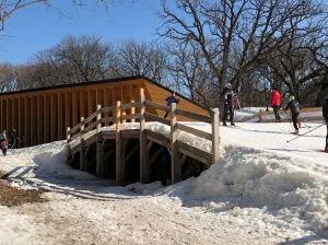 World Cup ski trail bridge