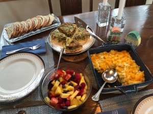 Easter Brunch dishes