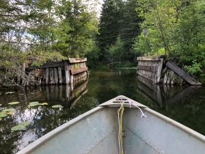 Narrow stream to Little Trout Lake