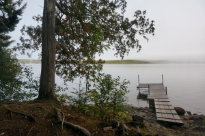 Our dock at Gunflint Pines