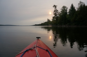 Smokey sunrise by kayak