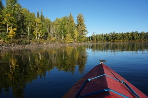 Kayaking Gunflint Lake