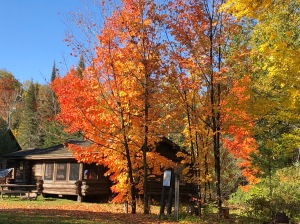 Tettegouche Camp with colors