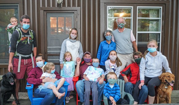 Hoeg family with masks