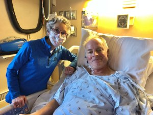 Molly with Rich in ICU