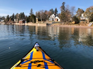 Kayaking shore by London Road