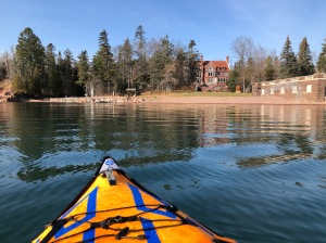 Kayaking by Glensheen Mansion