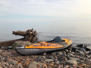 My kayak at Lester River