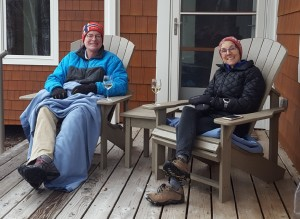 Molly and Rich on our deck