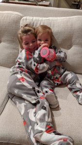 Maren and Crosby in Grammy Jammies