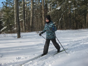 Ben skiing for the first time