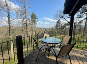 View from cabin deck over Ozark Mountains